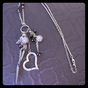 Funky Cute Silver necklace !